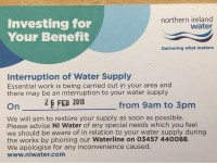 Interruption to Water Supply